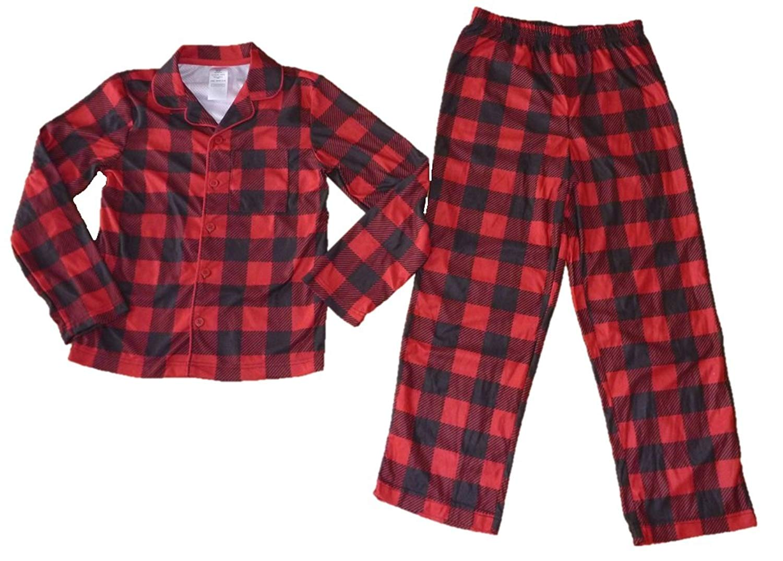Get Quotations · Joe Boxer Boys 2 pc Coat Style Flannel Pajamas e71c781f8