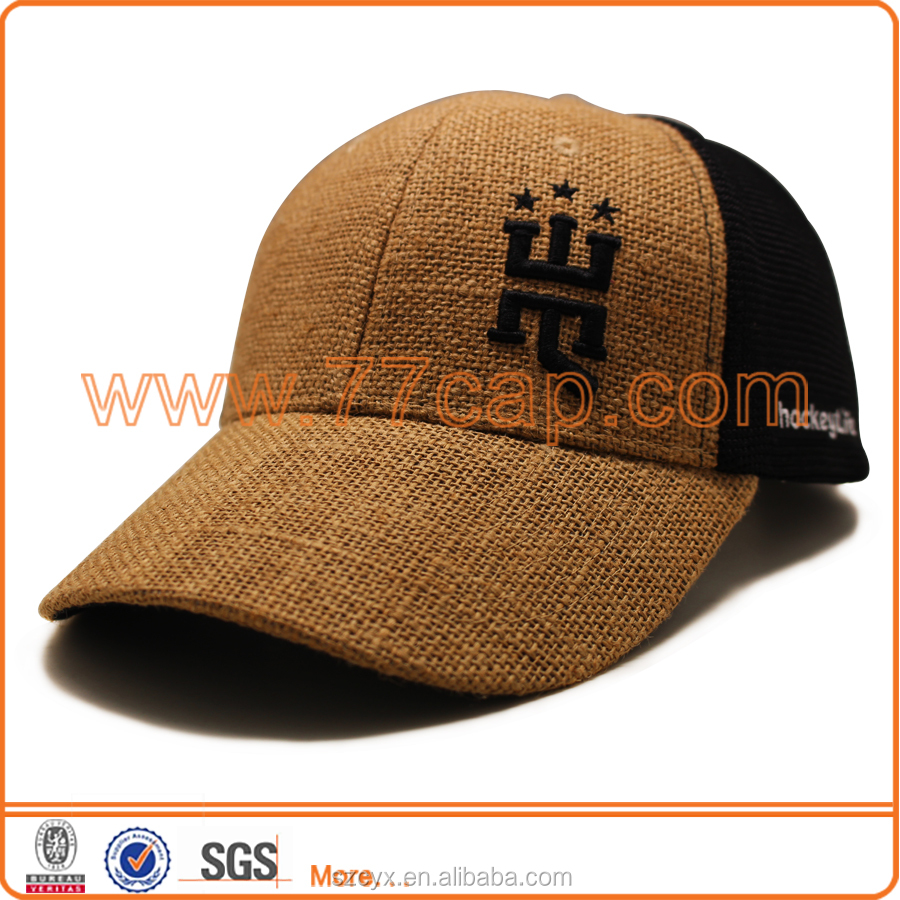 2016 OEM Custom 6 Panels Fashion High Quality Straw Mesh Trucker Hats Embroidery Straw Trucker <strong>Caps</strong>