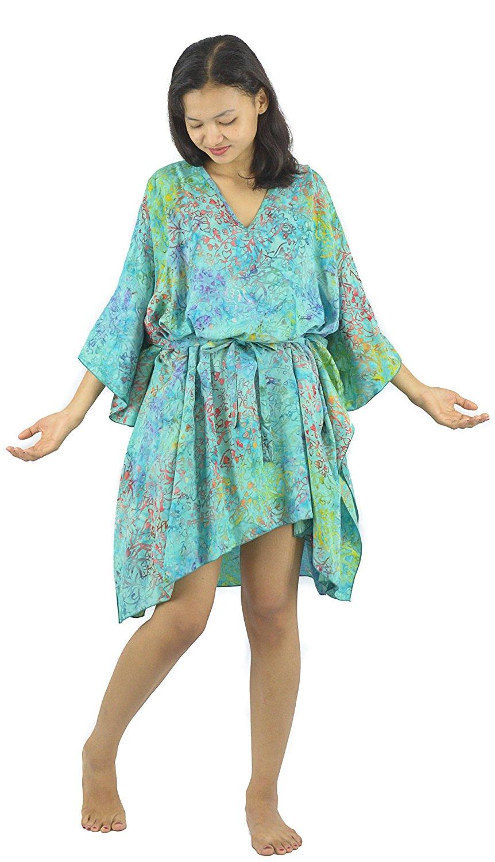 ccfbb816eb1 Get Quotations · Lifestyle Batik Grade1 Rayon Abstract Motif Batik Plus  Size Tunic Poncho Caftan Top 52
