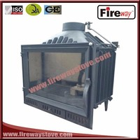 Fireway with remote control 14 kw insert wood fireplace