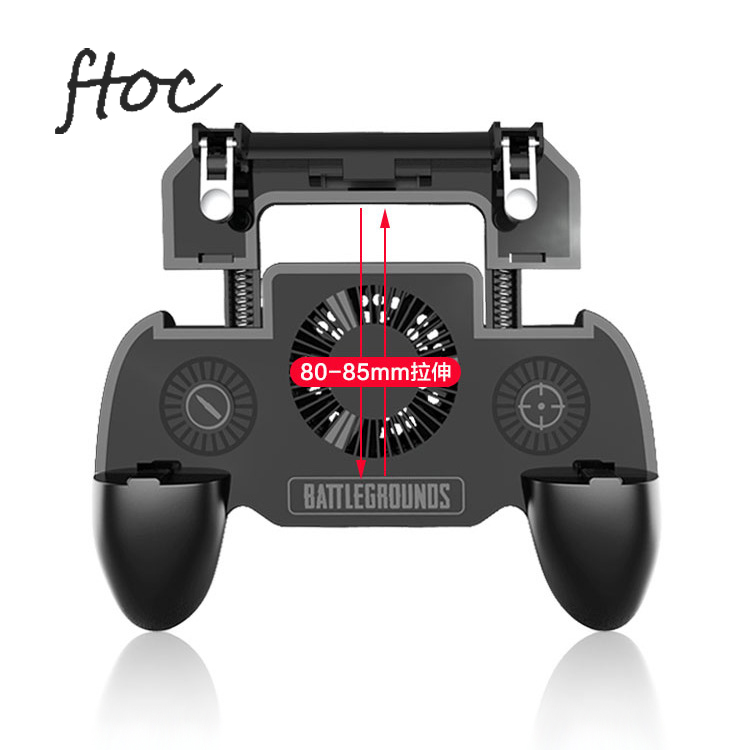 PUBG Fortnite Game Joystick Cooling Fan Gamepad Mobile Control Trigger L1 R1 Cell Phone Gaming <strong>Controller</strong> for Android Iphone