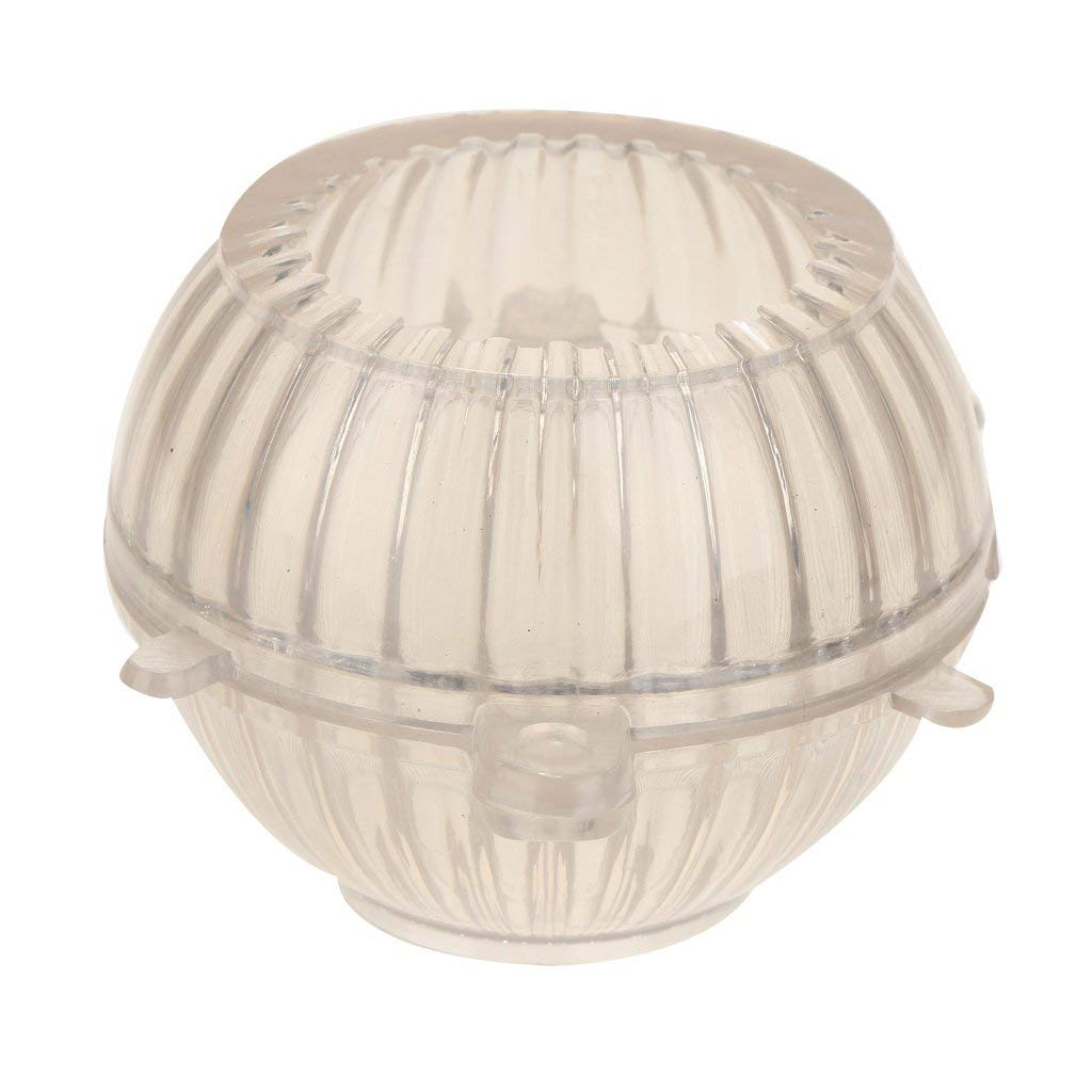 MagiDeal Plastic Striped Round Shape Candle Making Mold Soap Mold Tool DIY Candle Making Handmade Candle - 76x67mm