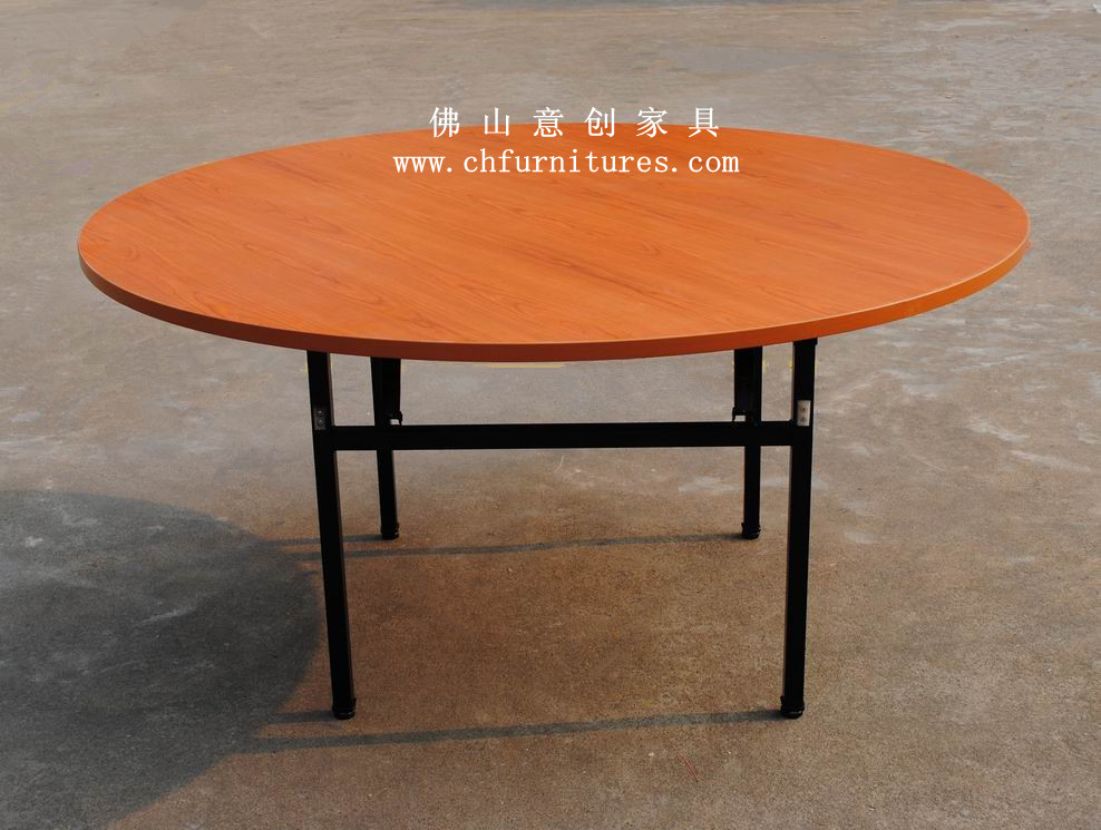 High quality wedding and banquet 6ft round pvc folding for Quality dining tables