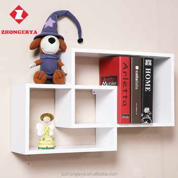 Zhongerya Wall Mounted Floating Storage Cube Wood Mdf Home Decor Shelf Woodware