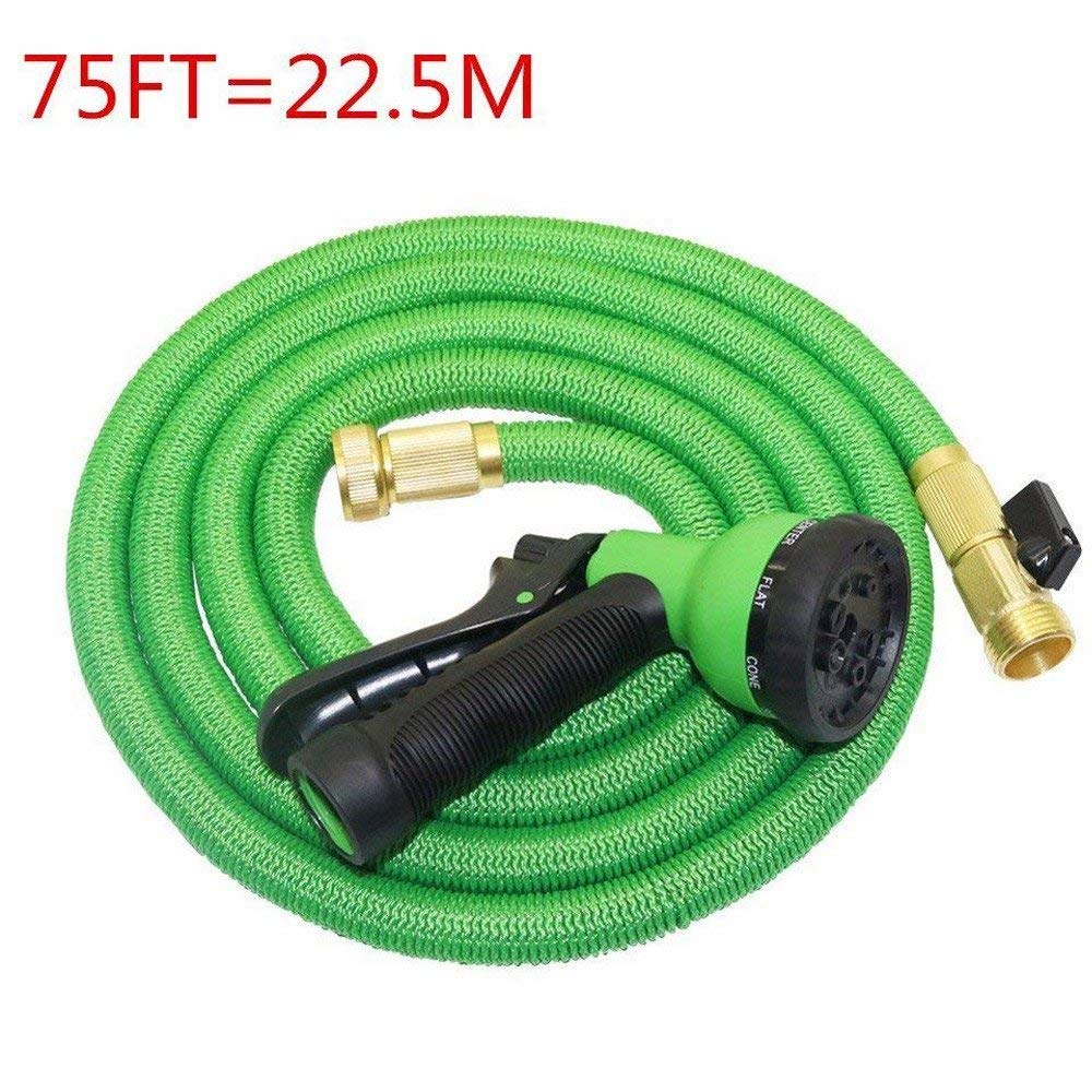 Garden Hose Nozzle Spray Nozzle 8 Patterns,MeiLiio 75FT Expandable Magic Flexible Water Hose Spray Nozzle Car Wash Hose Nozzle High Pressure for Car or Garden,Ideal for Washing Dogs & Pets (Green)