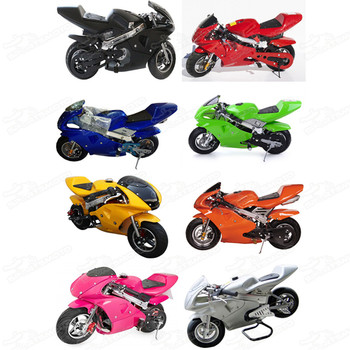 49cc Pocket Bike Mini Motorcycle For Kids 2 Stroke Minimoto Gas Gasoline Toy