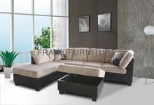 Top sell modern design suede 7 seater sectional sofa for living room furniture
