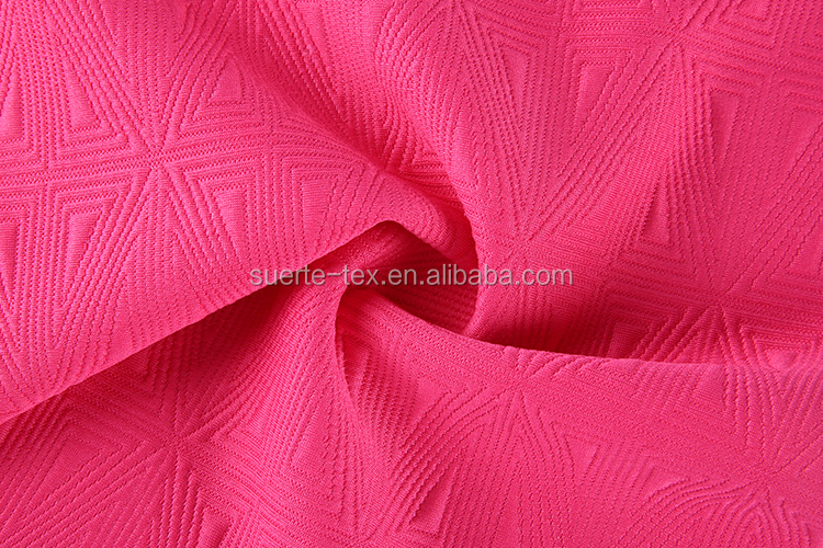high quality new design thick recycled polyester spandex satin jacquard fabric
