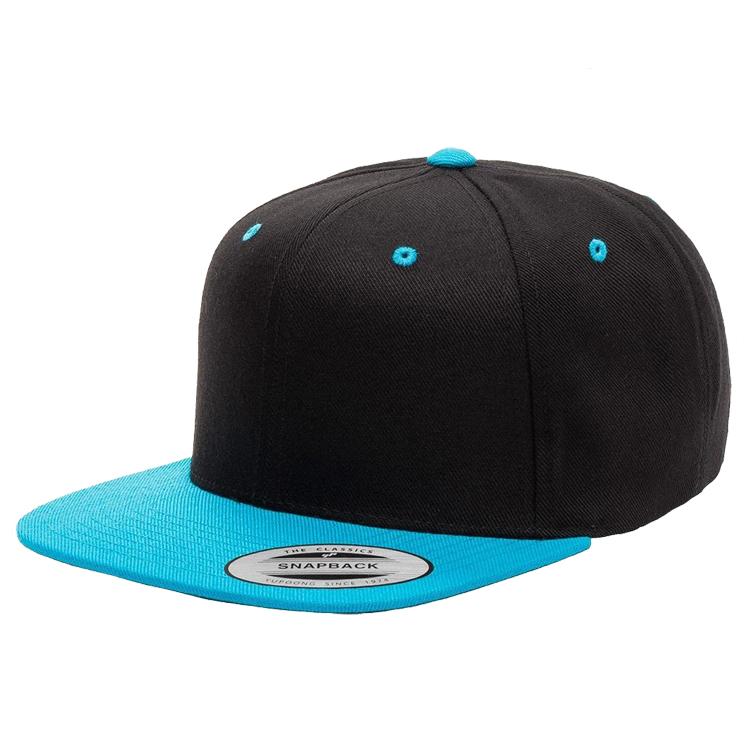 Gorras y sombreros Yupoong the Classics Flexfit niños SnapBack cap pro-style twill negro nuevo