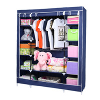 Folding wardrobe closet cabinet/ cupboard/ portable fabric wardrobe triple wardrobe $10.8