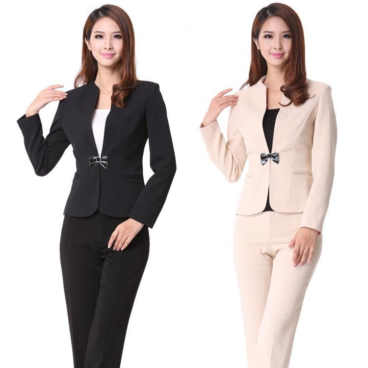 dc5194a37 Get Quotations · New 2015 Autumn and Winter Formal Pant Suits for Women  Business Suits Blazer Sets Fashion Ladies