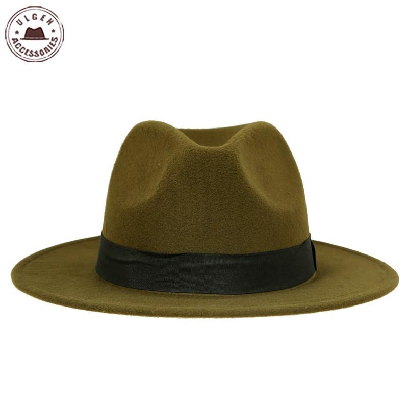 Hot sale cheap unisex wool Jazz hats mens fedora hat women ...