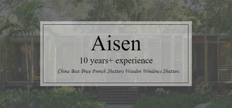 China Best Price French Shutters Wooden Windows Shutters