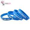 Custom maraton running sports match color ink debossed name band rubber bracelet