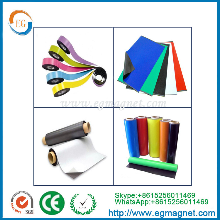 double sided adhesive thin pvc laminated soft roll flexible rubber magnet