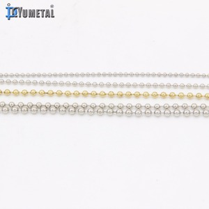 12mm 16mm Gold Plated Stainless Steel Ball Chain Light White Ball Chain