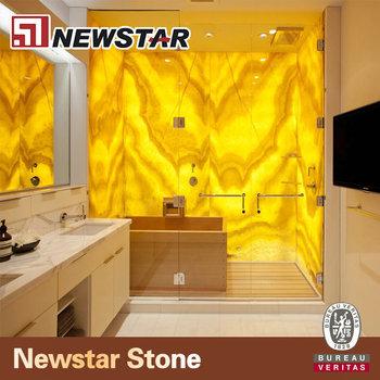 Backlit Stone Tub Surround Onyx Marble