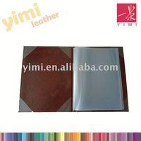 a5 pvc leather restaurant food menu folder