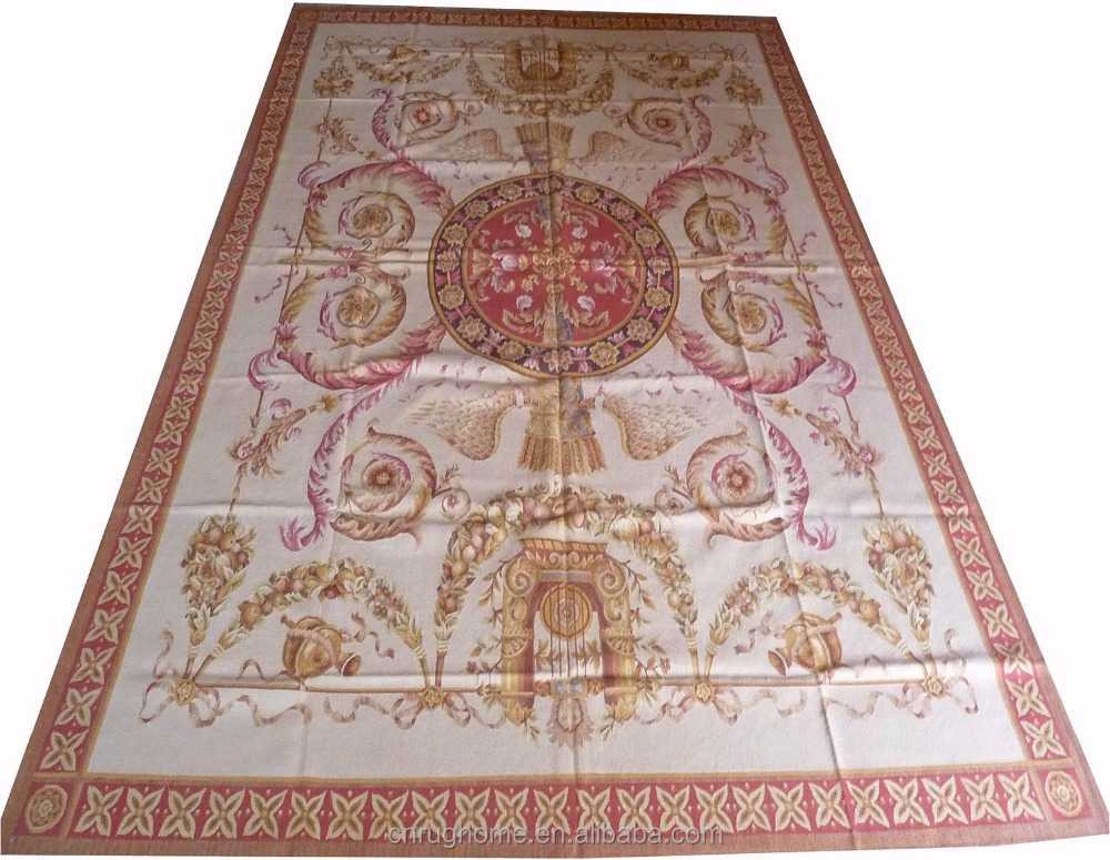 Home Decor 2.7X3.7m Hand Woven Aubusson Area Carpet with New Zealand Wool handmade carpet OEM Service available