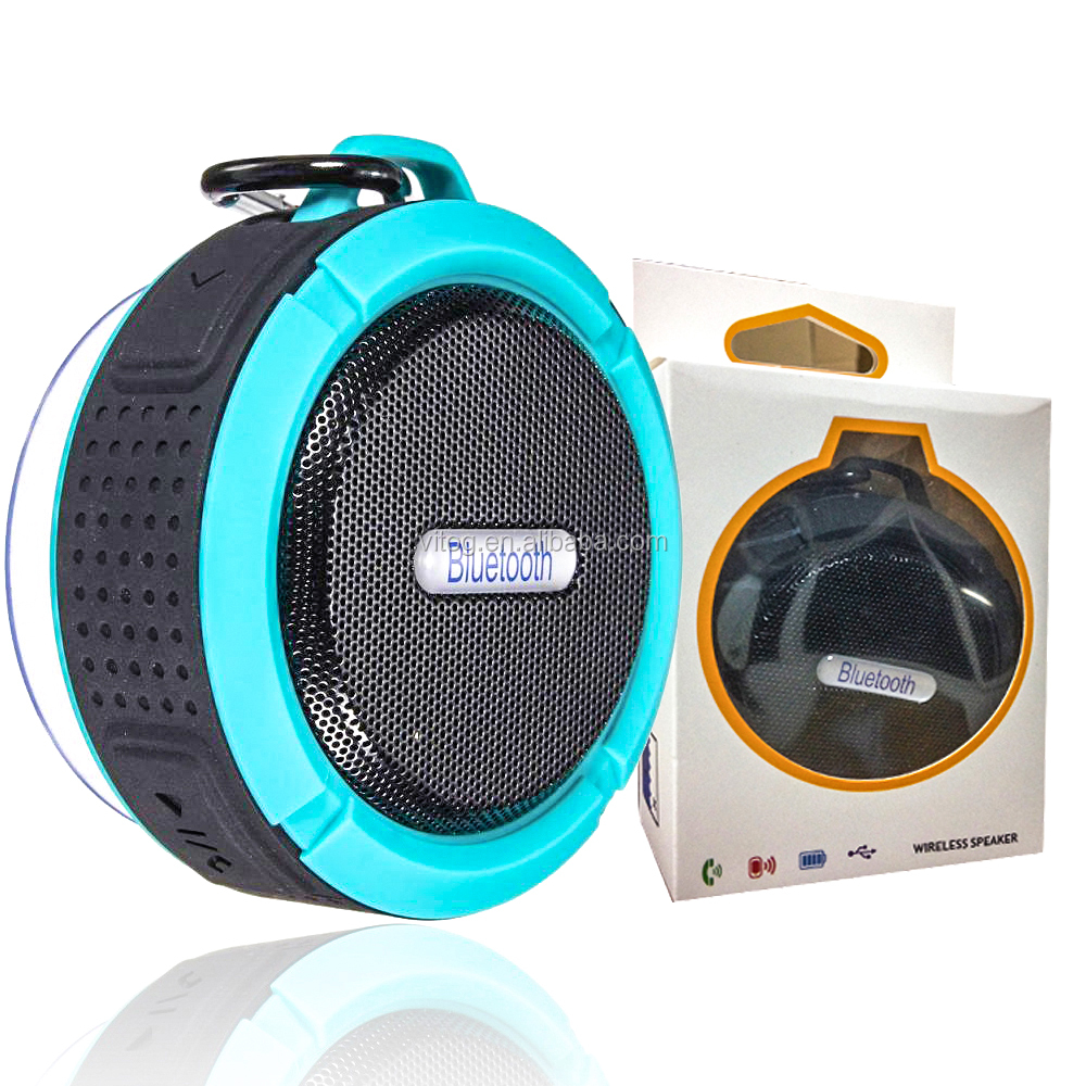 Free Shipping C6 Waterproof Speaker Wireless Potable Audio Player Speaker with Retail Package