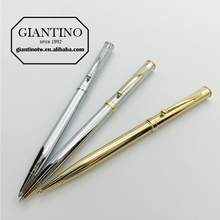 Free Shipping New High Quality Metal Silver Ballpoint Pen Writing Pens Gift Set For Promotion Stationery Executive Contact Pen