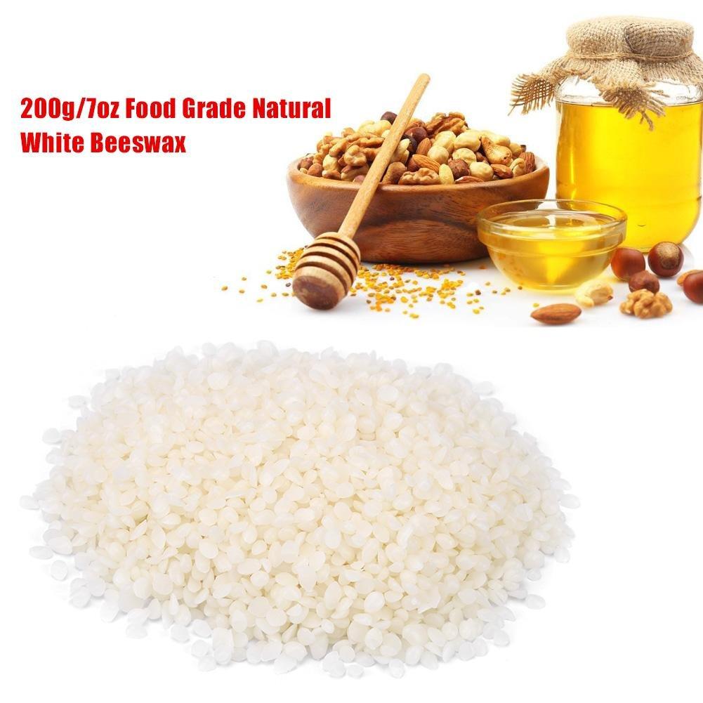 Natural White Beeswax Pellets 7oz/200g,Food Grade,Cosmetics Materials Great for DIY Lip Balm Recipes Body Creams Lotions Deodorants