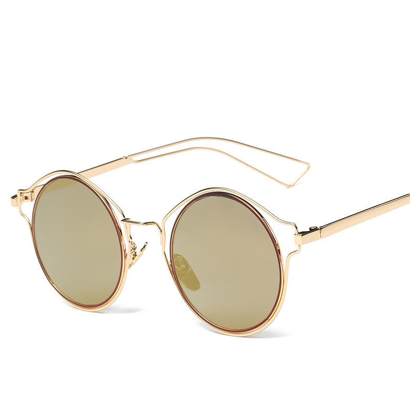 Metal hollowed-out cat eye sunglasses new <strong>sun</strong> - proof sunglasses(SWTP0397)