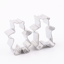 Custom stainless steel bear shapes cookie cutter set Factory flour knife cake scraper cake decoration tools