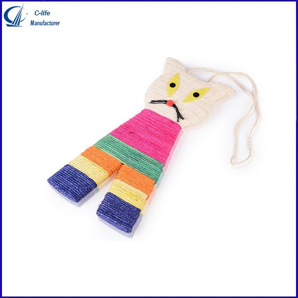 New Lovely Pet Cat Kitty Kitten Toy Fish Shape Sisal Scratch Board
