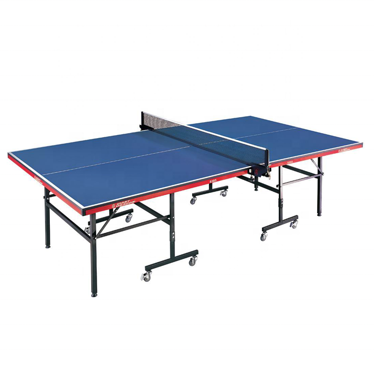 Professional Indoor Sports 25Mm Mdf Board Moveable Foldable Table Tennis Table