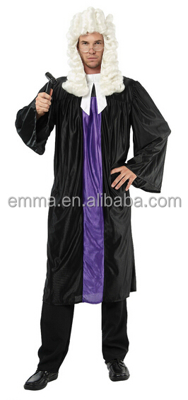 New Adult Mens Court Barrister Lawyer Judge Gown Robe Fancy Dress Costume Outfit BMG20107