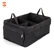 Heavy Duty Canvas Zipper Tool Bags Collapsible Organizer Car Trunk with Zippered Lid