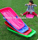 gym adorable kids pulled snow sled