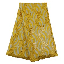 Giallo Africano tessuti di pizzo ricamo guipure cavo materiali in tessuto di pizzo chimica <span class=keywords><strong>francese</strong></span> del <span class=keywords><strong>merletto</strong></span>