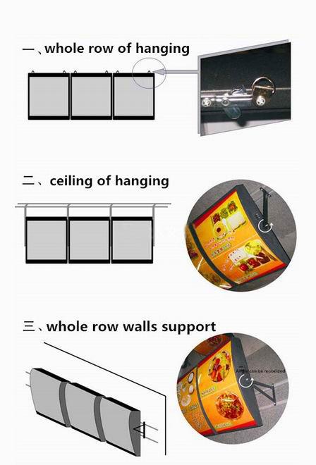 مصنع متجر مخصص/مطعم الحائط الاكريليك مضيئة Led القائمة صناديق الإضائة