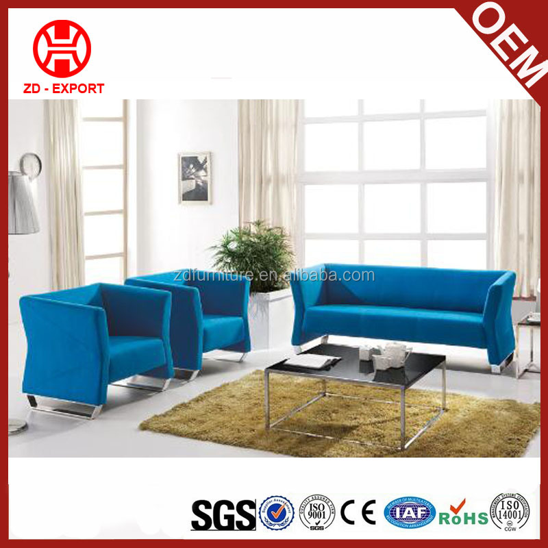 Blue Leather Sofa Set, Blue Leather Sofa Set Suppliers And Manufacturers At  Alibaba