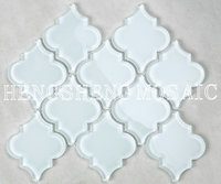 Wholesale Wall Art Decor Supper White Glass Lantern Water Jet Mosaic Tile Backsplash