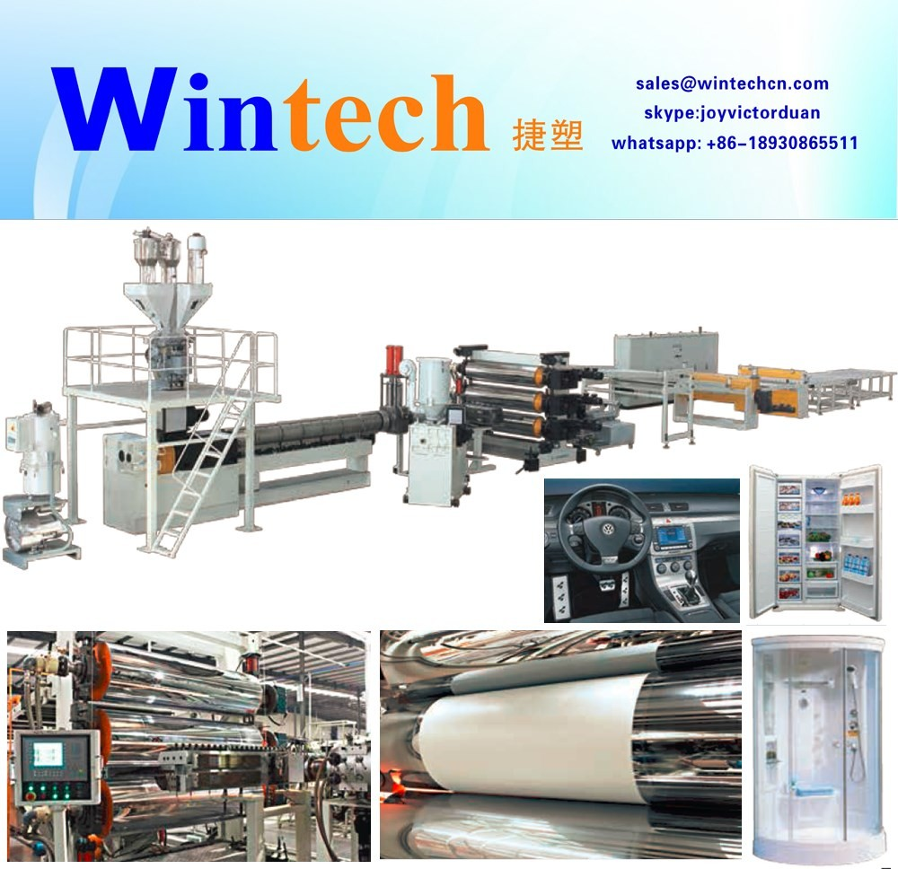 advertisement plate acrylic products making machinery production line extrusion line