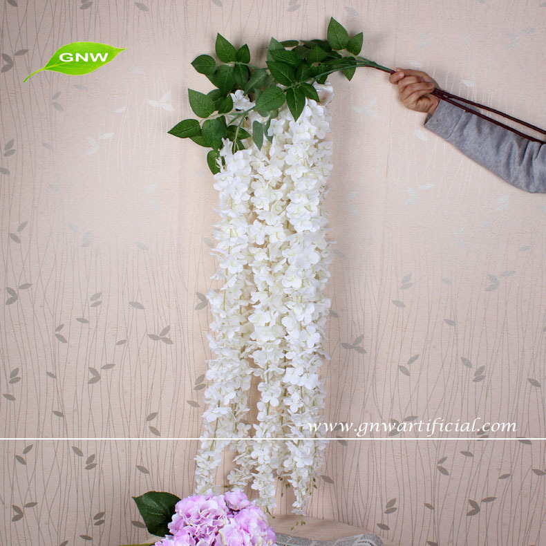Gnw hanging decorative artificial flowers wedding wisteria flower gnw hanging decorative artificial flowers wedding wisteria flower for wedding flower decoration mightylinksfo