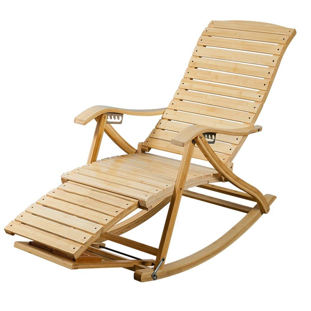 Get Quotations Lounge Chairs Zhirong 6 Grades Adjule Recliners Bamboo Rocking Chair Old Man Siesta Lazy
