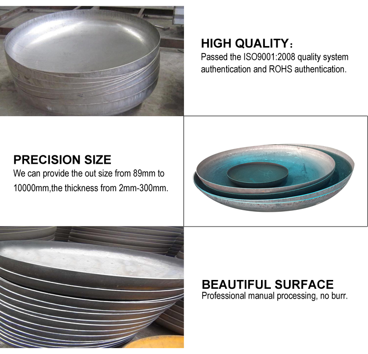 high quality carbon steel elliptical 2:1 dish head