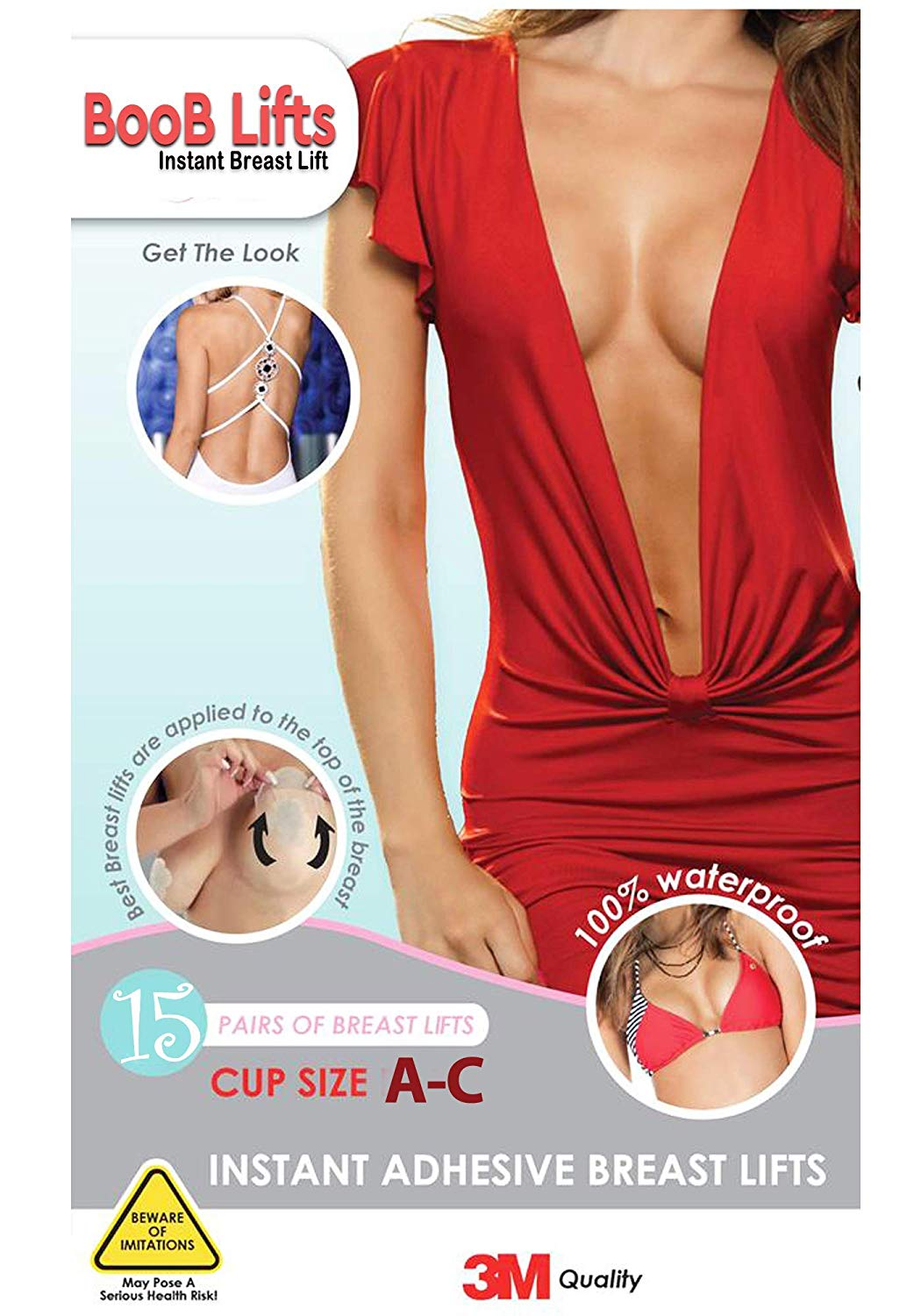 6fc372b77 Get Quotations · Breast Lifts Tape - Instant Breast Lift Pasties - Boobs  Push It up Bust Shaper Bra