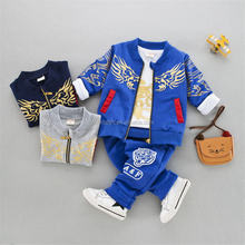 Baby Boy Clothes Toddler Outfit 3PCS Children Clothing Set with dragon pattern Sweater + Pants