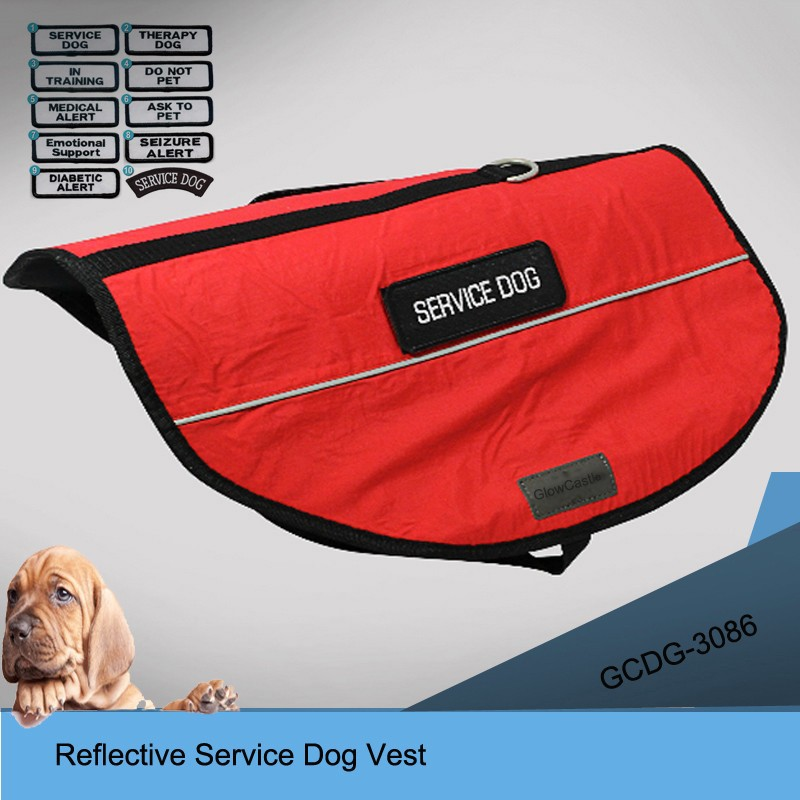 SERVICE DOG Neoprene Padded Pet dog harness vest wholesale with 5 sizes
