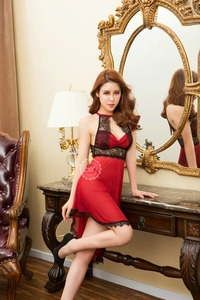 Hot Lady's Bedroom Sexy Garment Red Erotic Sleepwear Lingerie