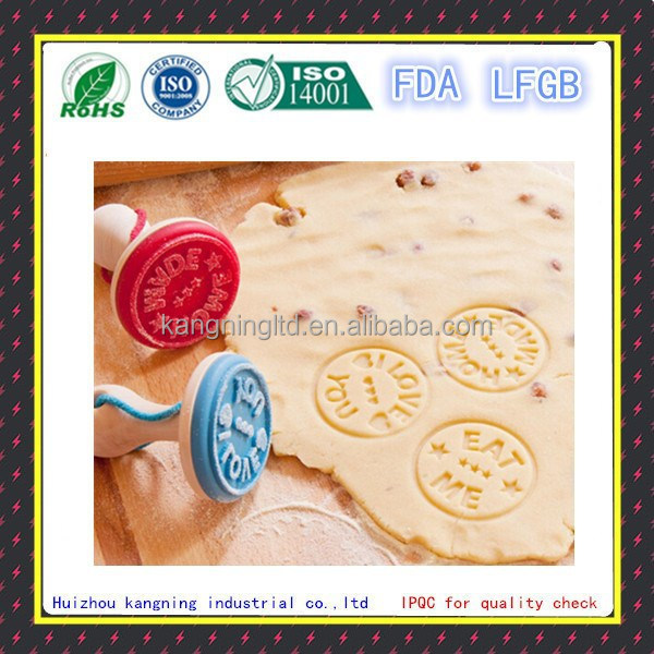 Safety durable silicone cake tool manufacturer,cookie stamp,rooling pin