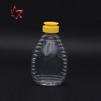Factory Directly plastic honey bottle silicon pet empty /peanut butter jar/candy jar newest Cheap Price