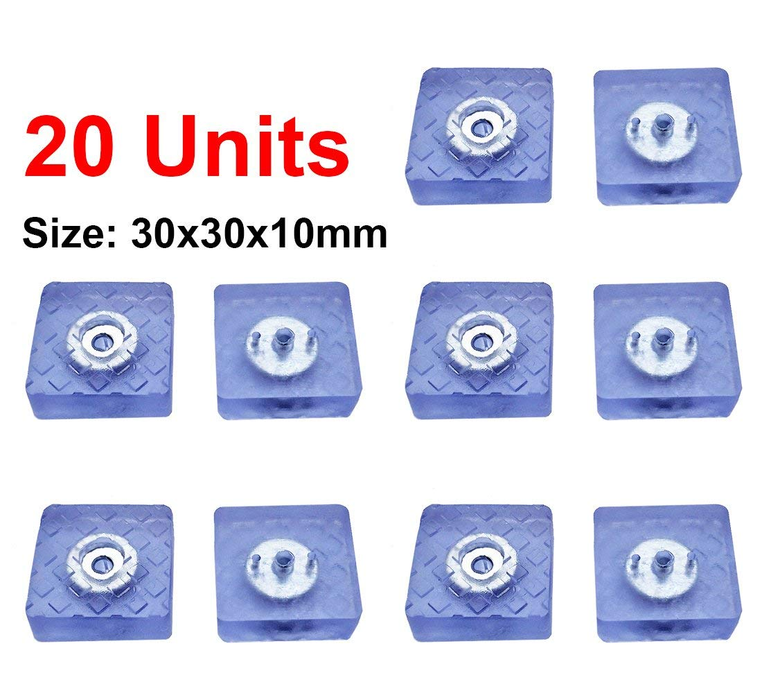 Qrity 20 Pack Chair Leg Caps Silicone Floor Protector Legs Furniture Table Pads Feet Covers