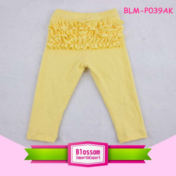 Kids baby icing ruffle pants bottom ruffle pants leggings Baby girl triple ruffle pants