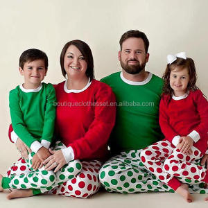 Personalized Christmas Pajamas Family Matching Pajamas Embroidered Baby Adult Clothing Set